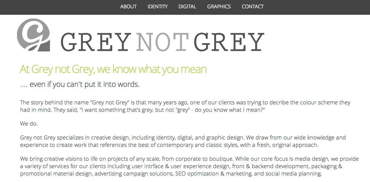Grey not Grey redesign