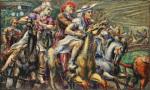 Reginald Marsh-Wooden Horses-1936-tempera on board