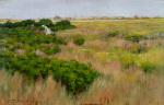 William Merritt Chase-Landscape near Coney Island-c1886-oil on panel