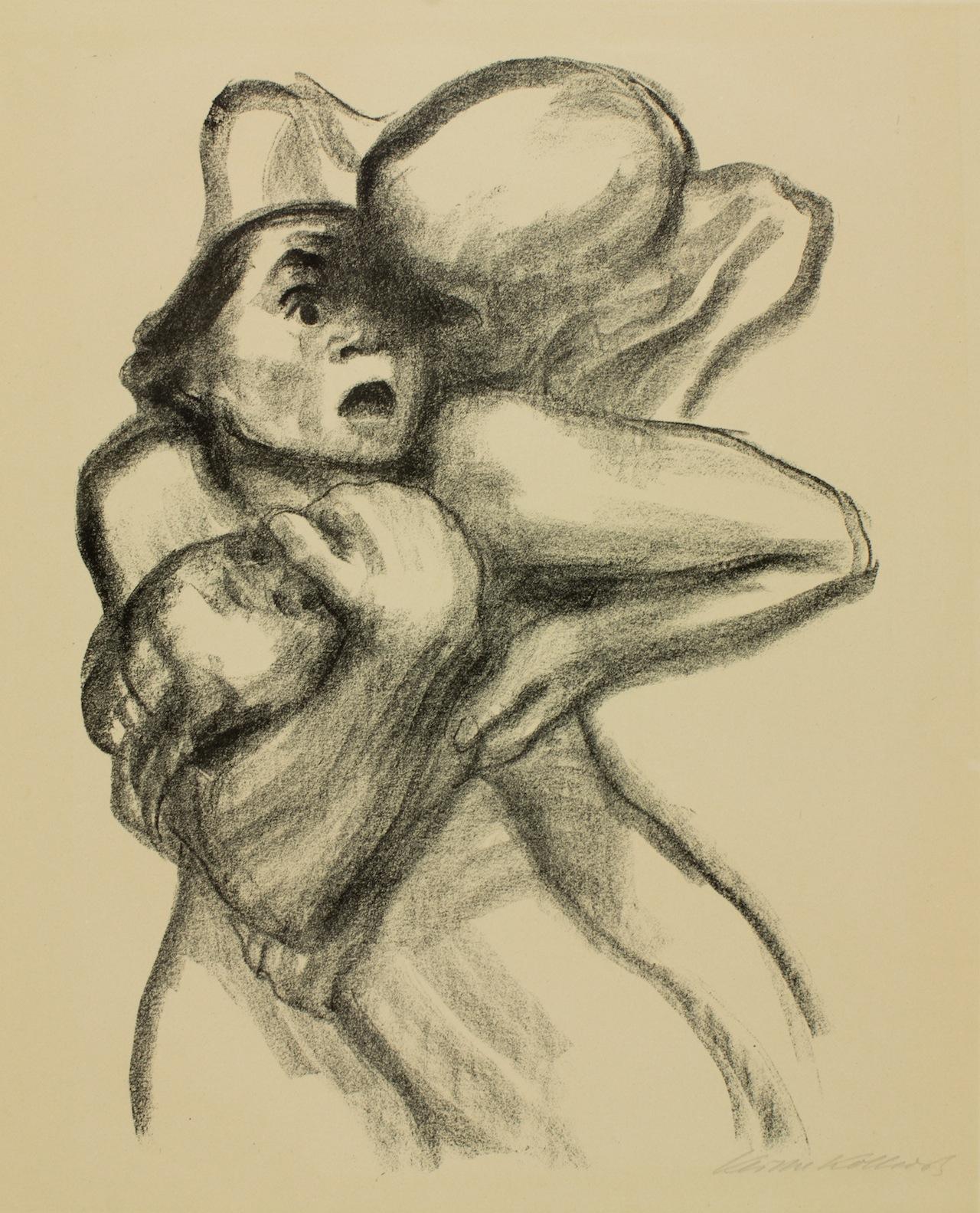 "Käthe Kollwitz, ""Tod packt eine Frau (Death Seizes a Woman)"" (1934), lithograph, the Peabody College Collection, Vanderbilt University"